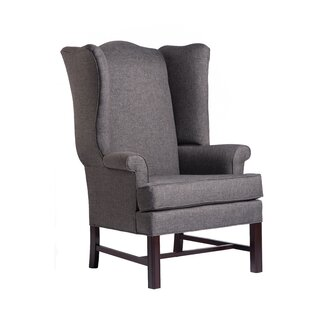 Comfort Pointe Jitterbug Chippendale Wingback Chair - Color: Gray