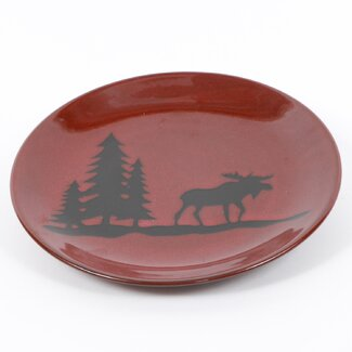 Woodland River Moose Stoneware Plate  sc 1 st  Everything Log Homes & Moose Dinnerware Shop - Everything Log Homes