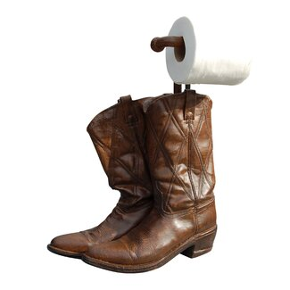 Hickory manor house free standing cowboy boots toilet paper holder