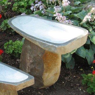 Stone Age Creations Large Granite Boulder Bird Bath - Size: Medium