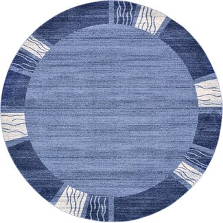 Unique Loom Del Mar Light Blue Area Rug - Rug Size: Round 8'
