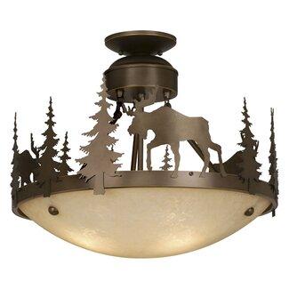 Montana Semi-Flush Rustic Ceiling Lighting from Wayfair