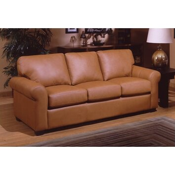West Point Queen Leather Sleeper Sofa