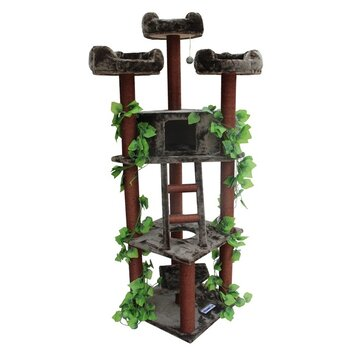 "Kitty Mansions 75"" Redwood Cat Tree"