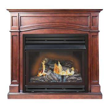 Brentmore Full Size Dual Fuel Gas Fireplace