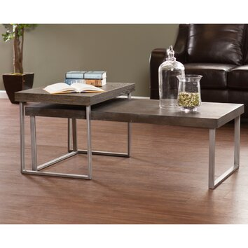 Wildon Home Newberry 2 Piece Nested Coffee Table Set