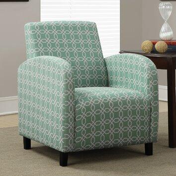 Monarch Specialties Inc Angled Kaleidoscope Arm Chair