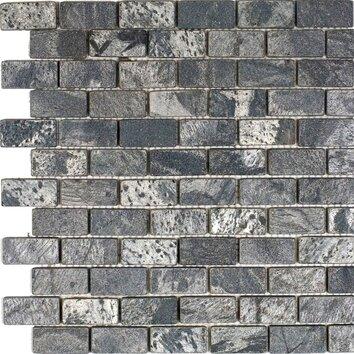 1 Quot X 2 Quot Slate Mosaic Tile In Ostrich Grey Wayfair