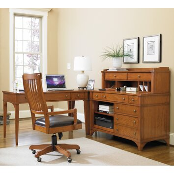Hooker Furniture Abbott Place 5 Piece L Shape Desk Office