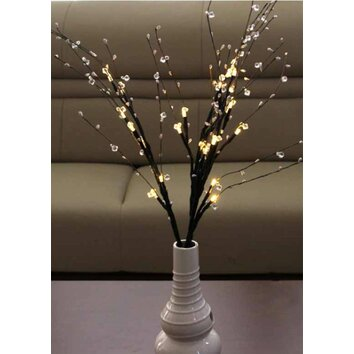 Battery Operated Decorative Wall Lights : Decorative Battery Operated 24 Light LED Bead Branch Wayfair