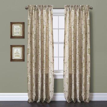 Lush Decor Roslyn Linen Light filtering Window Curtain