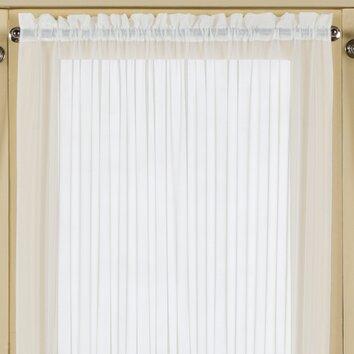 United curtain co batiste half rod pocket door curtain single panel - United Curtain Co Batiste Half Rod Pocket Door Single