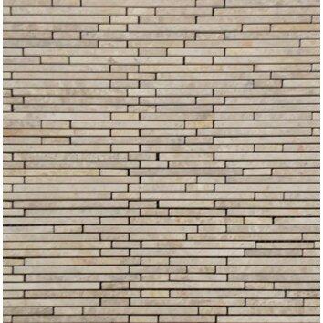 Emperador Light Random Sized Marble Mosaic Tile In Beige