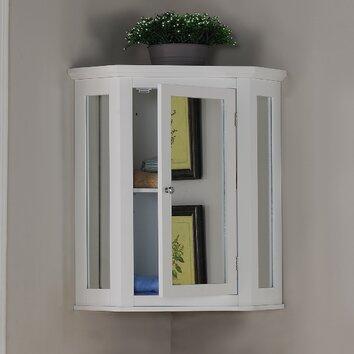 Elegant Home Fashions Wales 22 5 X 24 Corner Wall Mounted Cabinet Reviews Wayfair
