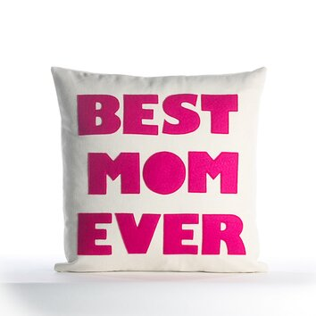 Mothers day best mom ever decorative throw pillow bme 16