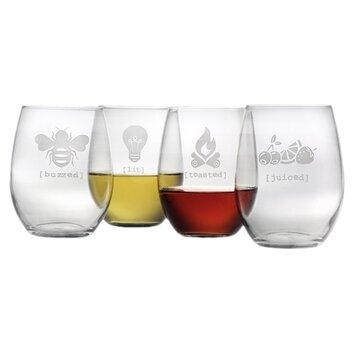 stemless glassware set