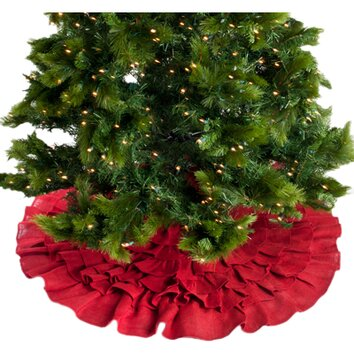 Saro Ruffled Christmas Tree Skirt