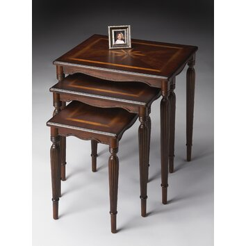 Butler Plantation Cherry 3 Piece Nesting Tables amp Reviews