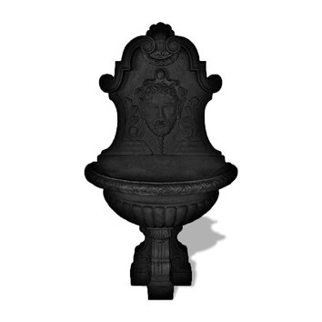 Amedeo Design ResinStone Asian Wall Fountain - Asian wall fountain is a perfect example of such work. Carved into the center of the piece is the face of an ancient Chinese man with a long beard which was their way of displaying wisdom.