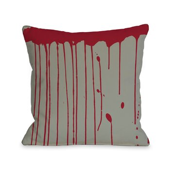 One Bella Casa Dripping Blood Throw Pillow