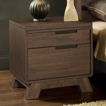Modus portland 2 drawer nightstand reviews wayfair for Z furniture portland