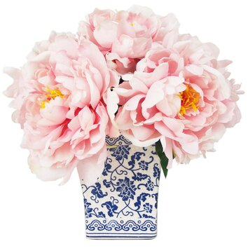 Creative Displays, Inc. Peony Bouquet in Chinoiserie Vase