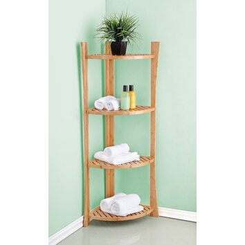 fox hill trading bamboo 15 x 45 corner freestanding. Black Bedroom Furniture Sets. Home Design Ideas