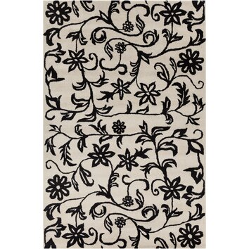 how to put an accent over a letter filament llc cinzia white black floral area rug cin050 22345 | Filament LLC Cinzia Off White Black Floral Area Rug CIN050 576