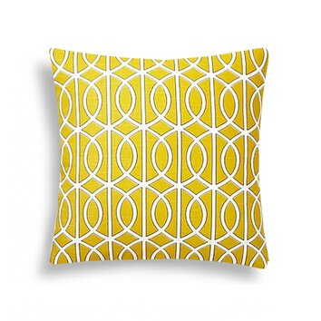 domusworks lattice decorative cotton throw pillow 22843