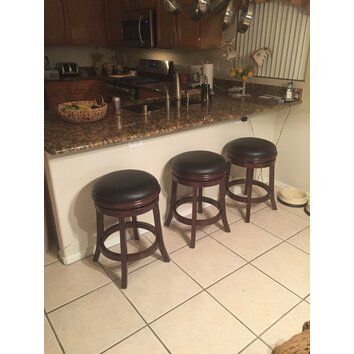 Three Posts Bristol 24 Quot Swivel Bar Stool With Cushion
