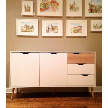Tvilum diana 3 drawer sideboard reviews wayfair - Tvilum sideboard ...