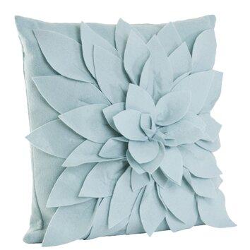 Saro Flower Throw Pillow