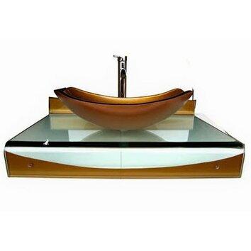 kokols 31 single floating bathroom vessel vanity set reviews wayfair supply. Black Bedroom Furniture Sets. Home Design Ideas