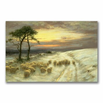 Farquharson Joseph Homeward Through The Glistening Snow   Wall  Art  Canvas