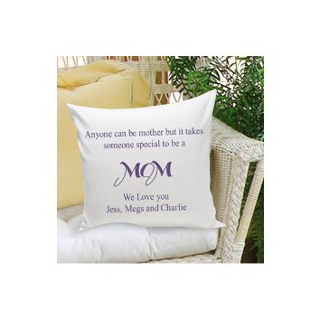 JDS Personalized Gifts Personalized Gift Parent Cotton Throw Pillow