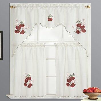 Dainty Home Kitchen Apple Curtain Set Reviews Wayfair