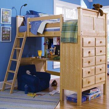 Epoch Design Kenai Twin Loft Storage Bed With Built In