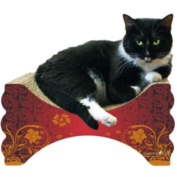 Imperial cat scratch 39 n shapes rub 39 n lounge recycled for Chaise lounge cat scratcher