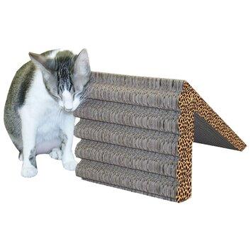 Imperial cat scratch 39 n shapes rub ramp recycled paper for Chaise lounge cat scratcher