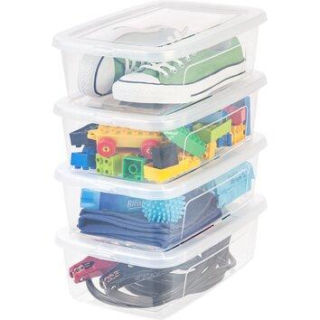 IRIS 6 Quart Clear Storage Box (Set of 12)