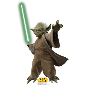 Advanced graphics star wars yoda with lightsaber cardboard for Chaise yoda