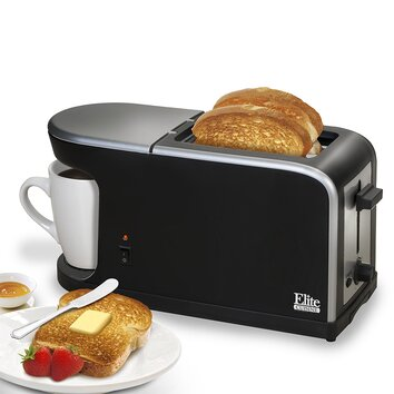 Elite by maxi matic cuisine 2 in 1 dual function breakfast station