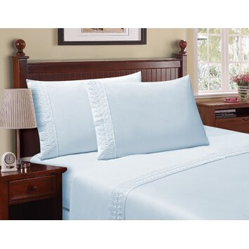 Cathay Home, Inc Venice Lace 90 Thread Count Sheet Set