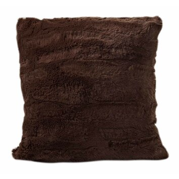 Cathay Home, Inc Luxe Faux Fur Throw Pillow