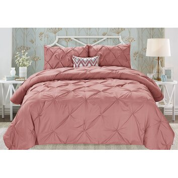 Cathay Home, Inc Swift Home Pintuck Comforter Set