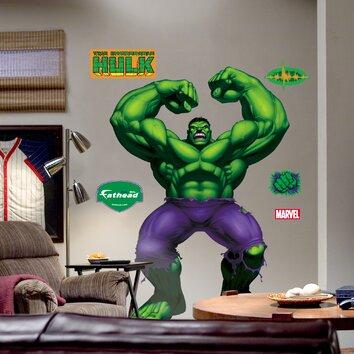 super heroes hulk wall decal wayfair lego hulk avengers vinyl decal wall sticker marvel kids ebay