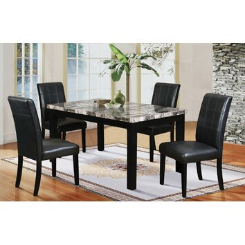 Hazelwood Home 5 Piece Faux Marble Dining Set Amp Reviews