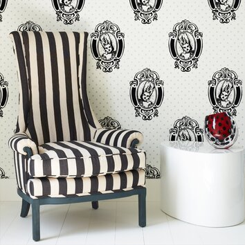 Room Decorated With Barbara Hulanicki Wallpaper