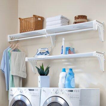 EZ SHELF from Tube Technology Expandable 6 Piece Laundry Room Shelving Kit