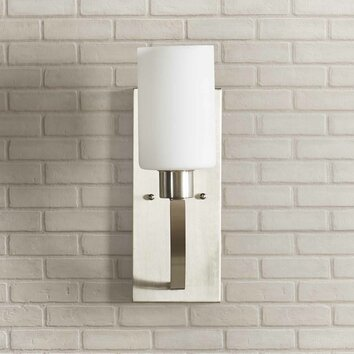 coastal kitchen cabinets mercury row regis 1 light wall sconce amp reviews wayfair 2273
